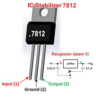 Cara memasang IC regulator 7812