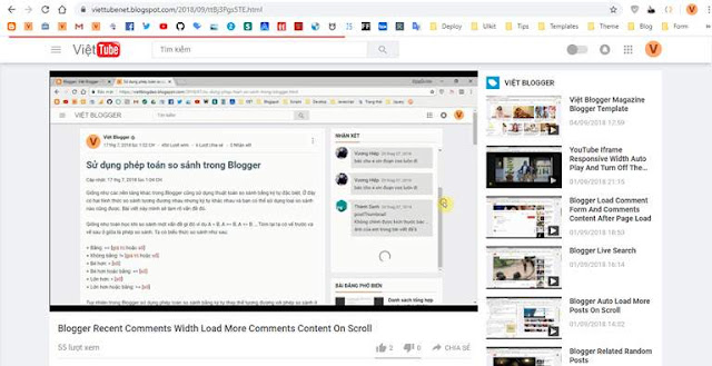 Thêm hiệu ứng progress bar đầu trang của Youtube khi tải trang