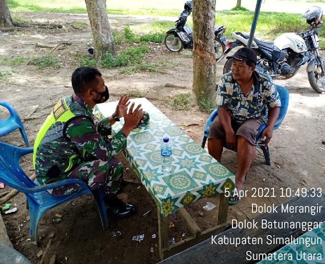 Jalin Silaturahmi Dengan Warga Binaan, Personel Jajaran Kodim 0207/Simalungun Laksanakan Komsos