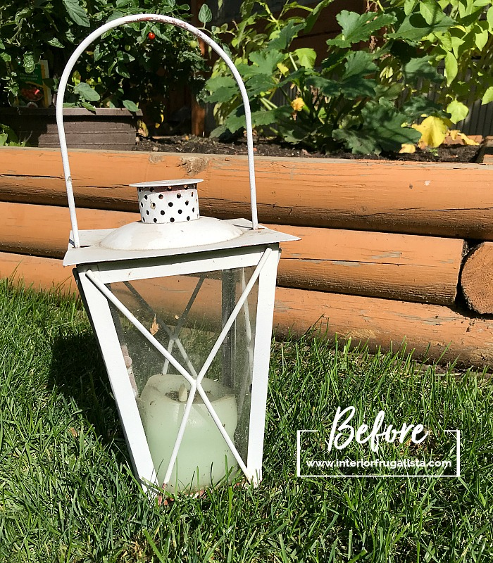Recycled Garden Lantern For Halloween