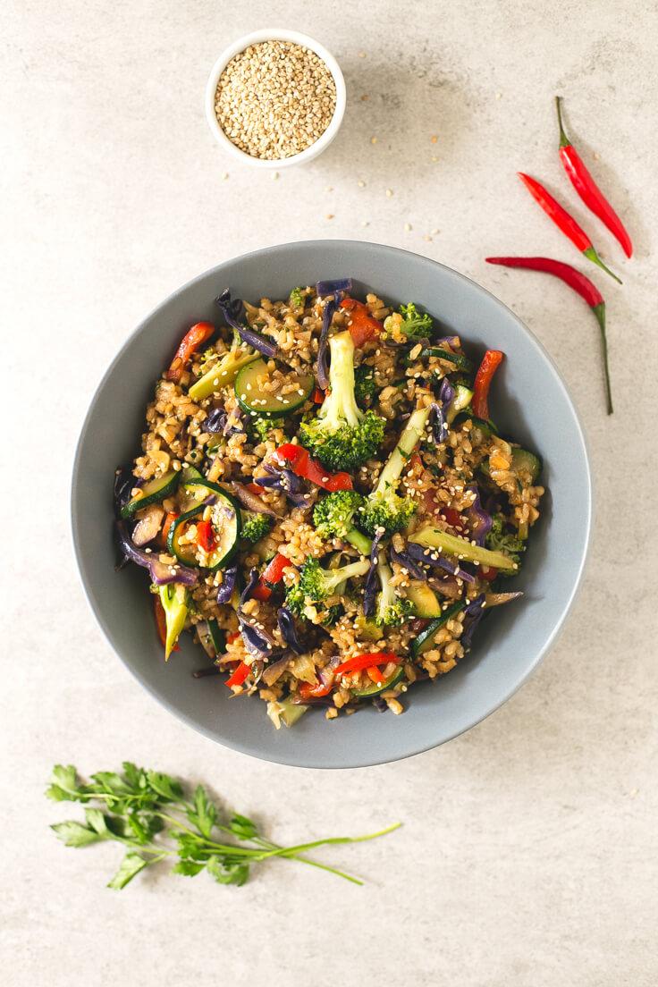 How To Make Rice Wok | danceofstoves.com #vegan
