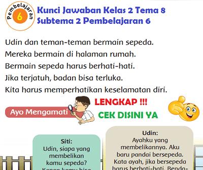 Kunci Jawaban Kelas 2 Tema 8 Subtema 2 Pembelajaran 6 www.simplenews.me