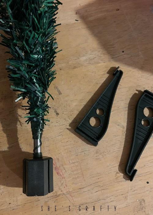 supplies to make rustic Christmas tree