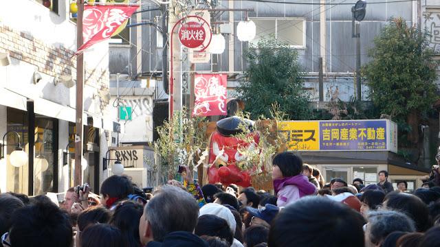 Tengu Matsuri (the Long Red-nosed Festival), Shimokitazawa, Setagaya, Tokyo