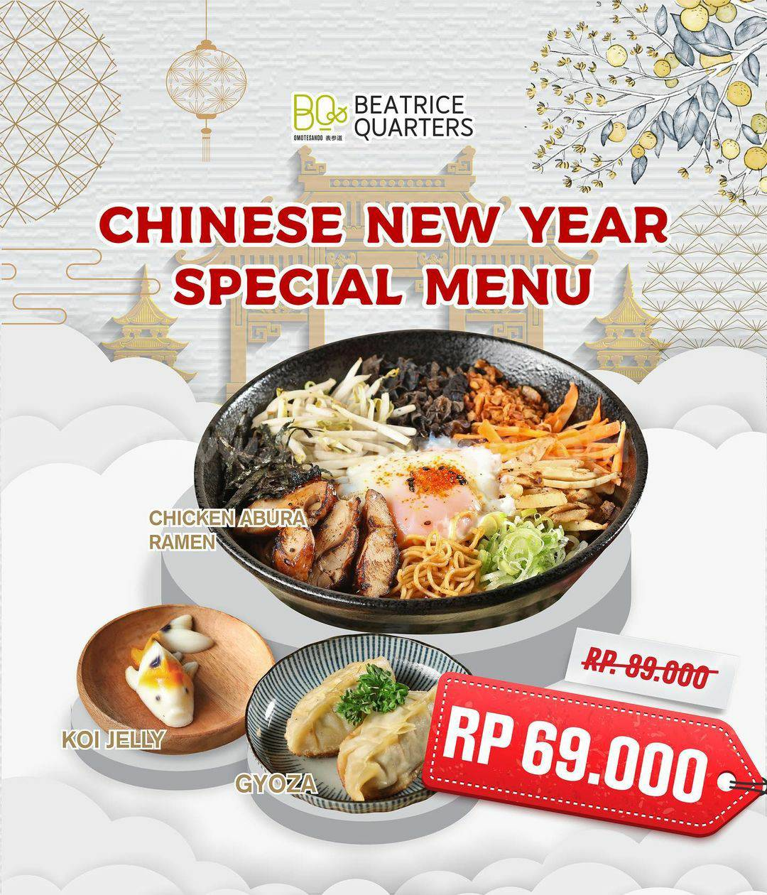 Promo Beatrice Quarters Chinese New Year Special Menu