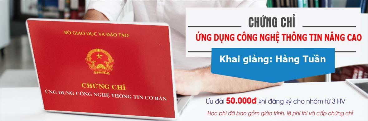 Thi chứng chỉ ứng dụng CNTT Tại Biên Hoà