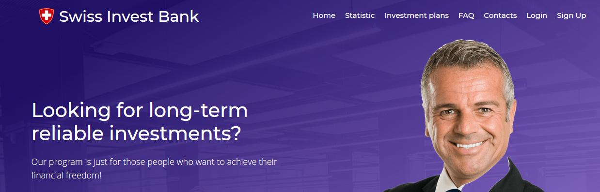 Мошеннический сайт swissinvestbank.org – Отзывы, развод, платит или лохотрон? Информация от PlayDengi