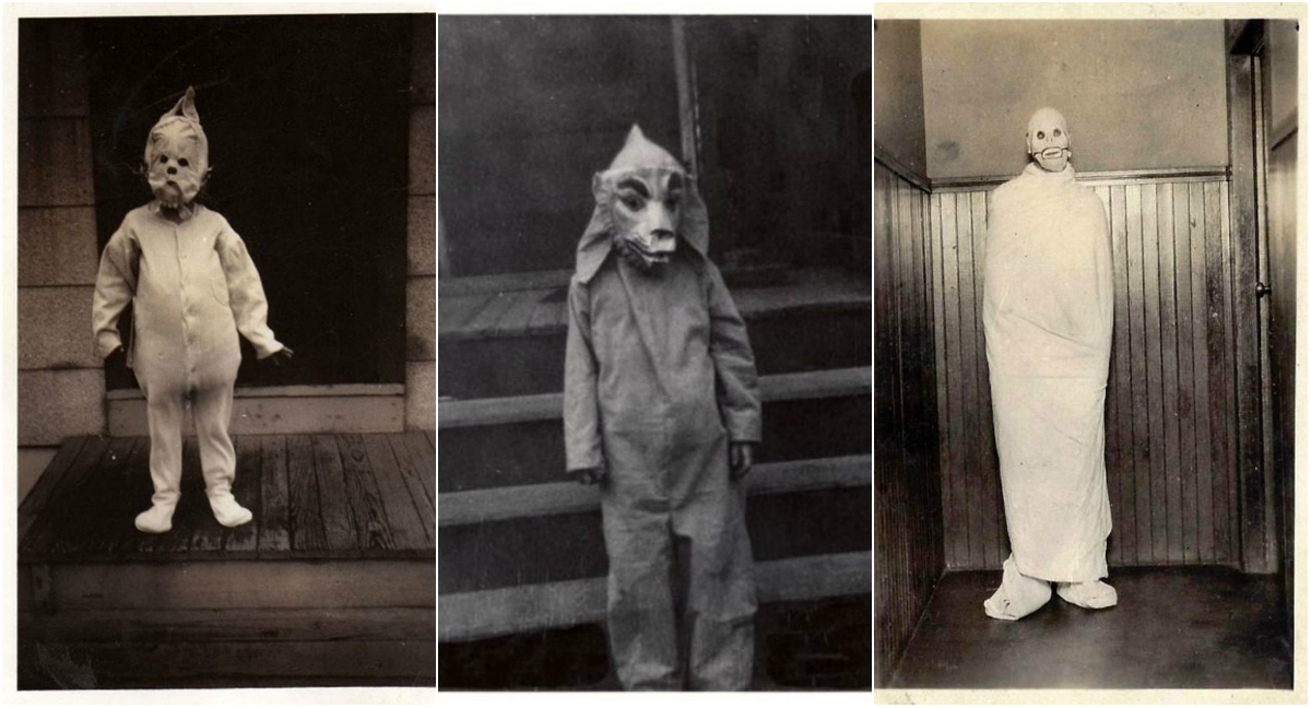 42 Vintage Snapshots of Freaky Halloween Costumes That Give You A Nightmare