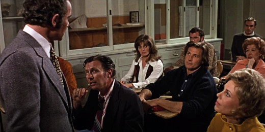 Classroom scene with Michael Pataki and William Smith, Grave of the Vampire, 1972