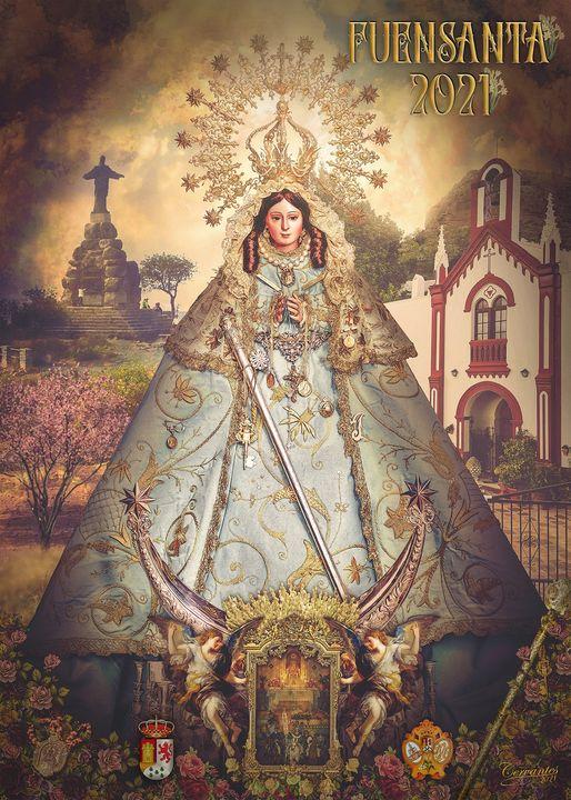 Cartel Anunciador de Ntra. Señora la Virgen de la Fuensanta 2021, Patrona de Villa de Pizarra