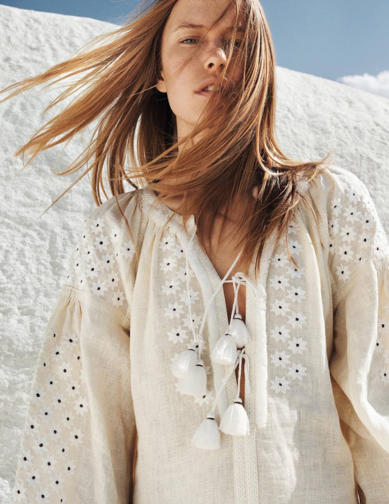 Annelot de Waal in 'White Summer' for Grazia France August 2016