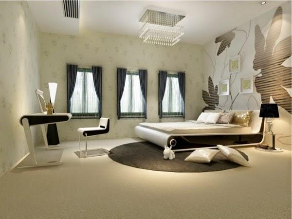dormitorio estilo futurista