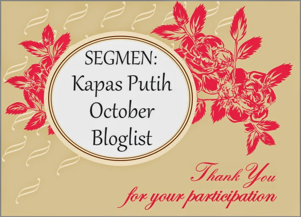Segmen Kapas Putih October Bloglist