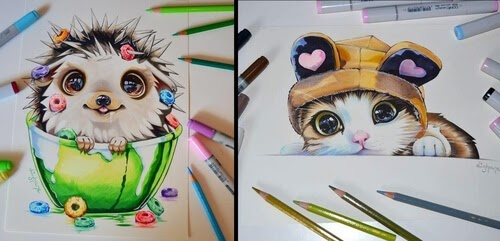 00-Lisa-Saukel-lighane-Cute-Colored-Fantasy-Animal-Drawings-www-designstack-co