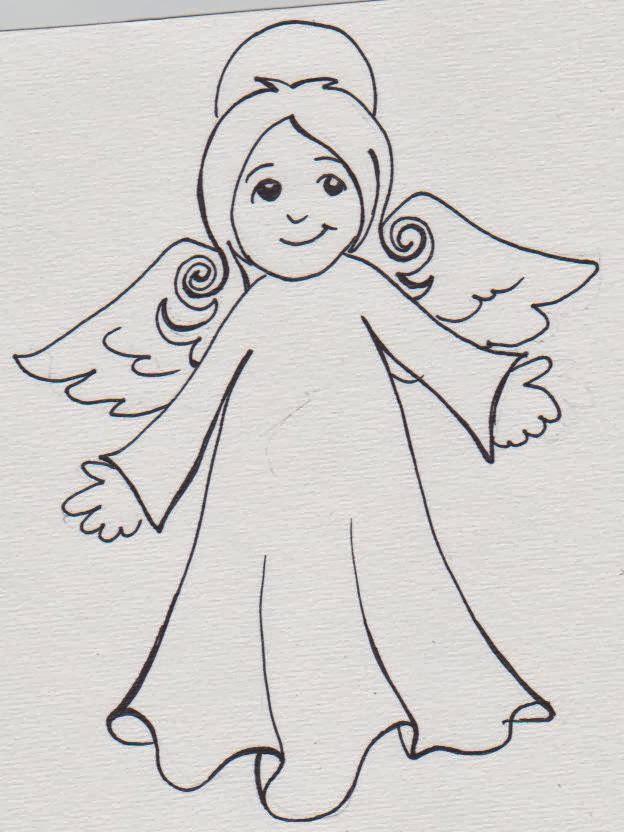 disegni di angeli da colorare