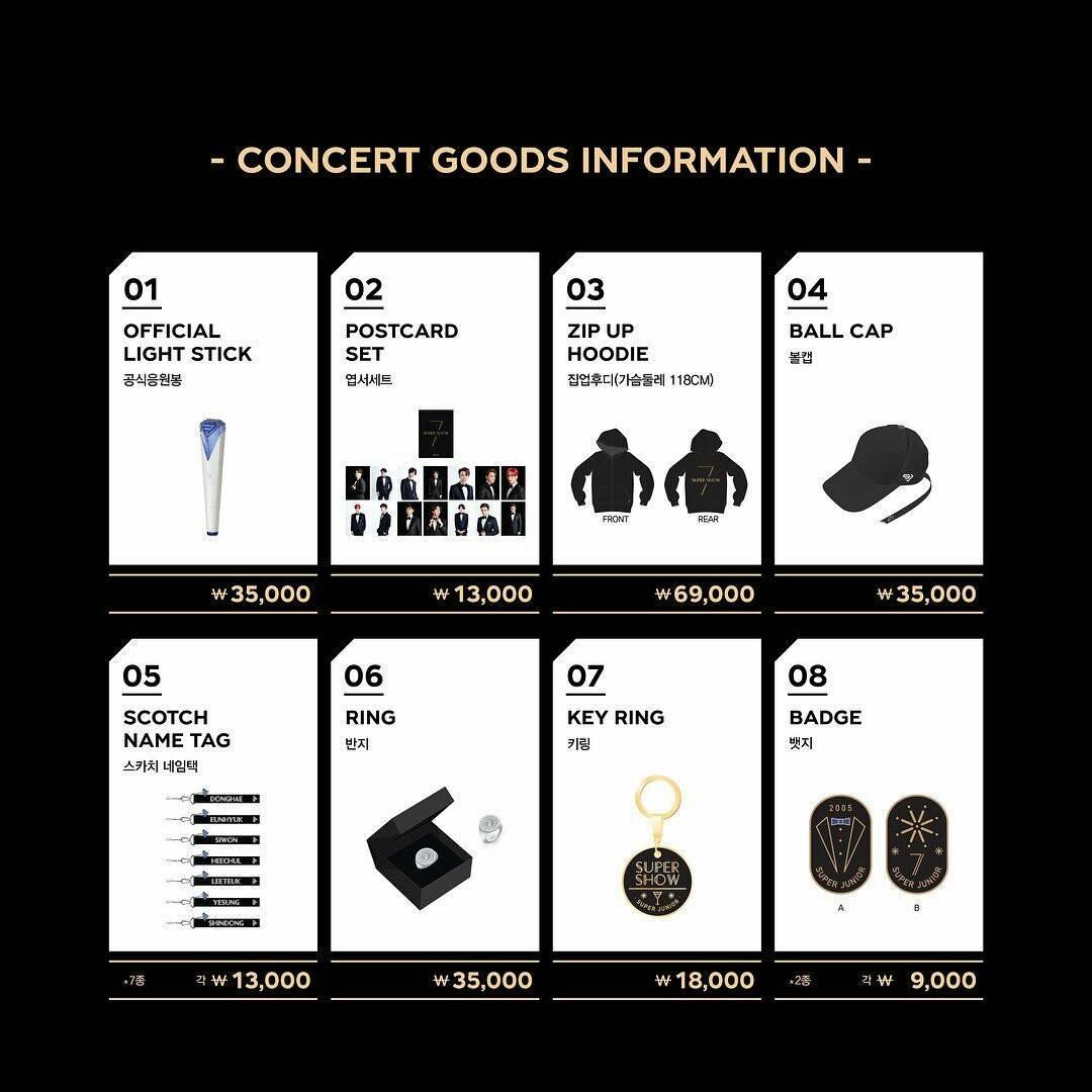 About Super Junior: #SuperJunior SUPER SHOW 7 Official Goods