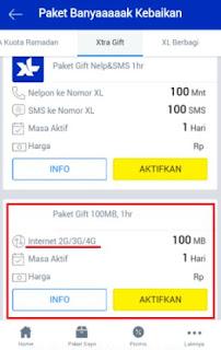 kuota gratis xl 100 mb untuk nelpon_sms_internet -pilih paket xtra gift