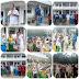 Peduli Bencana Asap Melanda Batam, Wahyudin Anggota DPRD Kepri Bersama Karang Taruna Mukakuning Berbagi Masker di SDN 009