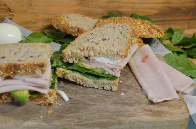 sándwich, sándwiches, sándwich verde, sándwich saludable, sándwich light, sandwich vegetal, sandwich de pollo, sandwich aguacate, sandwich con huevo, las delicias de mayte,