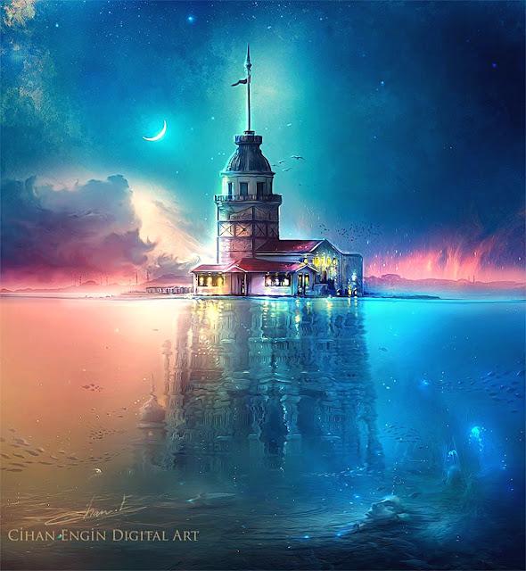 1719'da bu ahşap kule çıkan yangınla kül olur. 1725 yılında şehrin Başmimarı tarafından kâgir olarak yeniden inşa edilir. Kule üst kısmı değiştirilerek üst tarafa camlı bir köşk ve onun üzerine de kurşunla kaplı bir kubbe eklenir.
