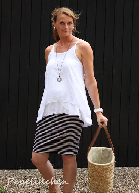 Outfit nähen - Top und Rock nach Freebook's