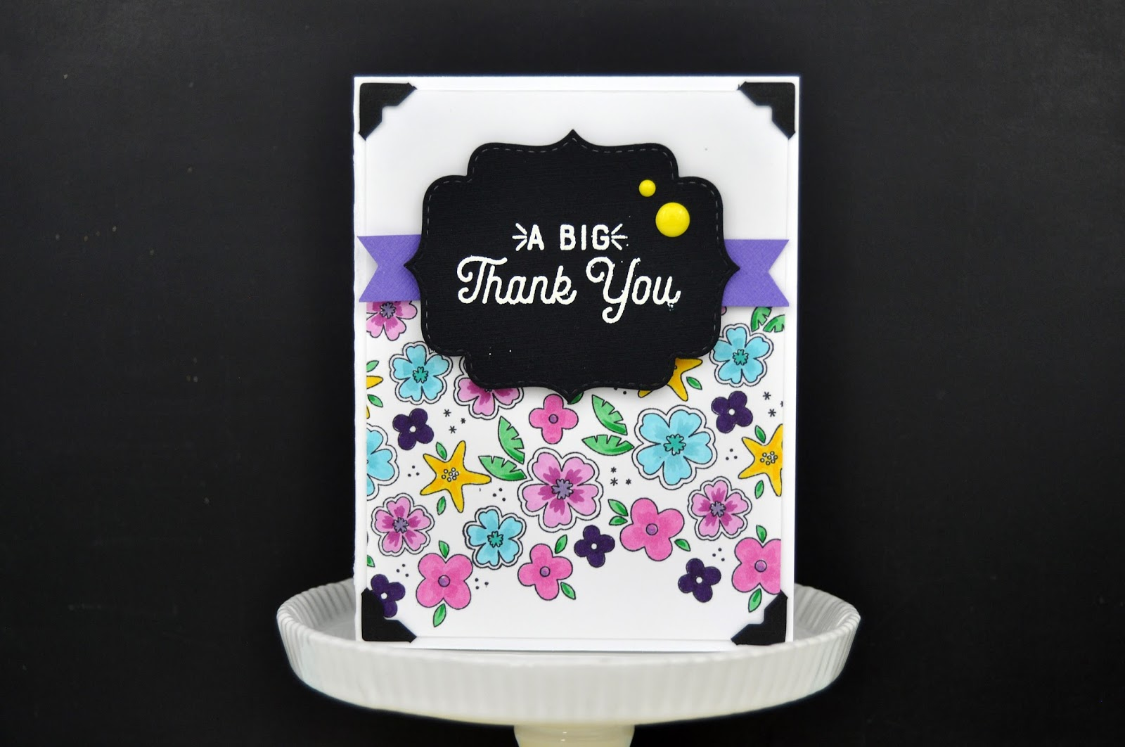 Close to My Heart: Floral Stamped Card