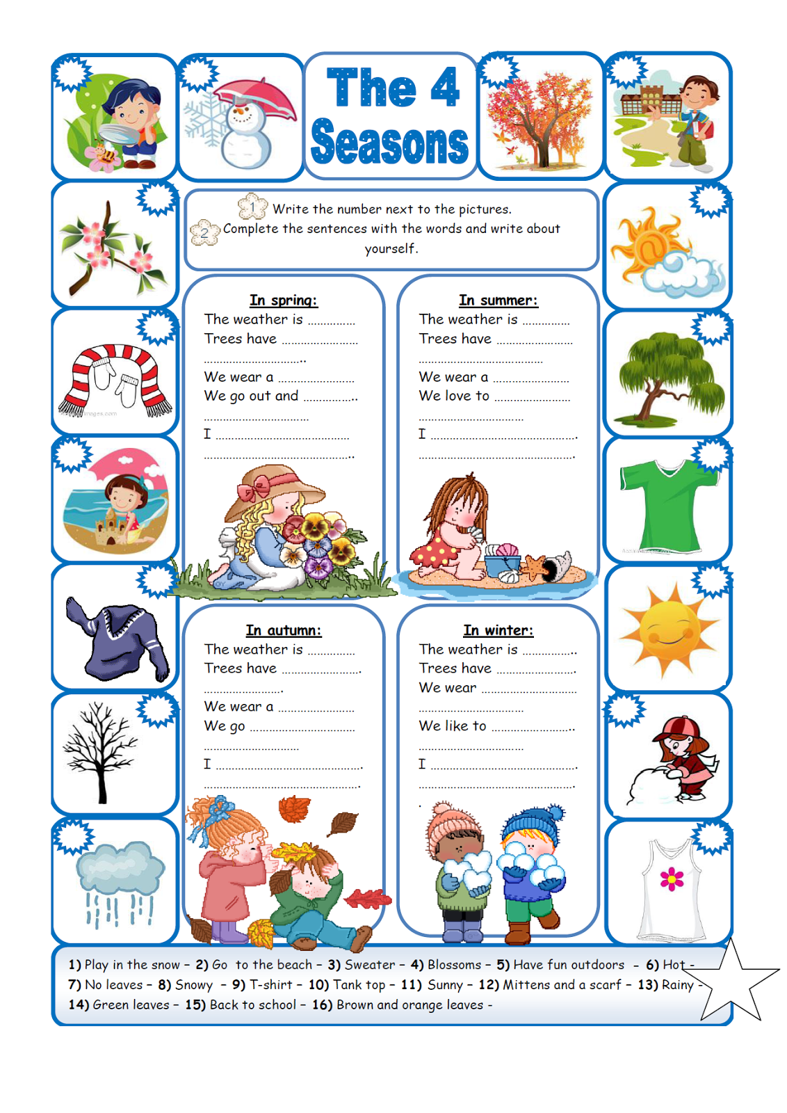 English Fourth Graders Zone First Worksheet Third Term