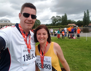 After the Gift of Life 5K Run at Exhibition Park at the 2019 World Transplant Games in Newcastle Gateshead
