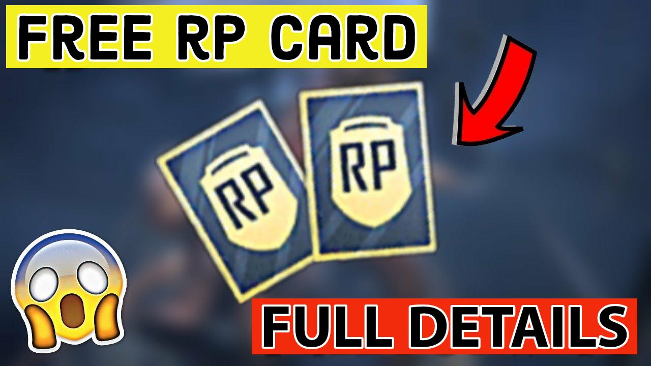 RP Mission card Pubg