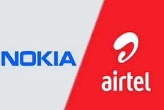 There has been a partnership between Bharti Airtel and Nokia.  Under this partnership, Airtel's 4G network will be strengthened.