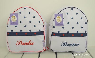 mochila personalizada marino