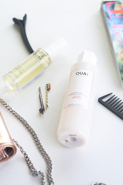 Ouai luxury hair products, repair conditioner, celebrity brand