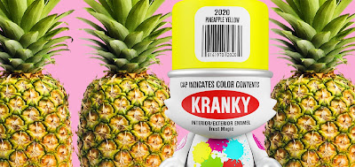 Pineapple Yellow SuperKranky Vinyl Figure by Sket One x Superplastic