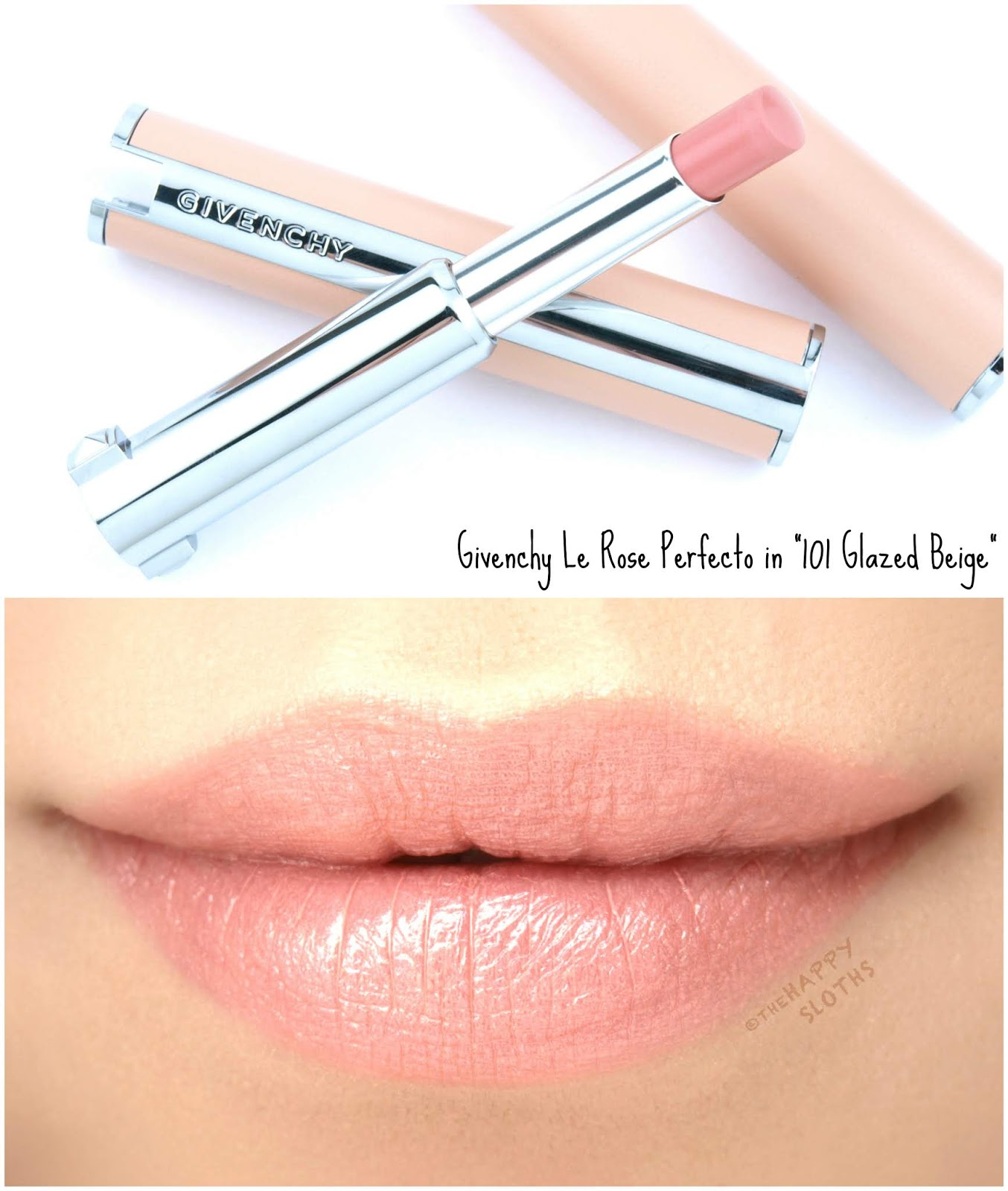"Givenchy | Le Rose Perfecto Beautifying Lip Balm in ""101 Glazed Beige"": Review and Swatches"
