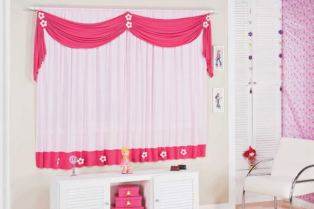 white and red window curtain ideas