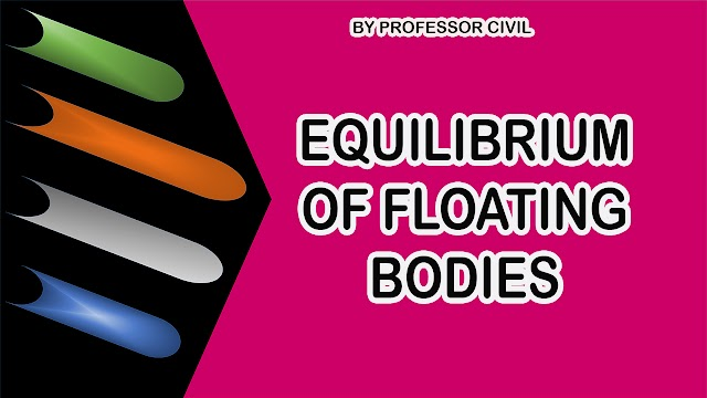 EQUILIBRIUM OF FLOATING BODIES
