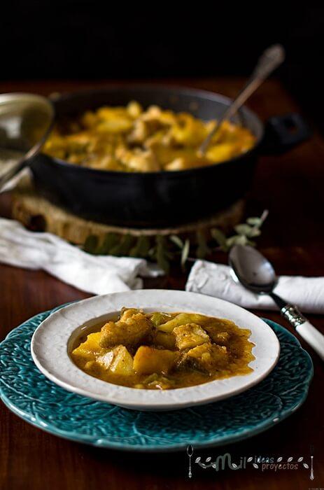 guiso tradicional con patatas y bacalao