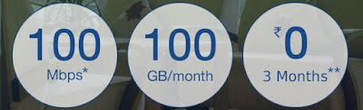 Preview Offer - 100 Mbps-100GB/Month For 3 Months