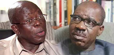7 APC Governors Met With Oshiomhole, As Obaseki Heads To Aso Villa