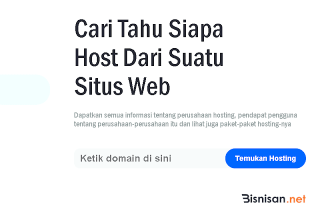 cek hosting suatu website
