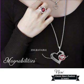 Magnabilities Engravable Classic Heart Pendant