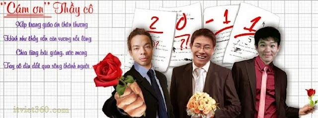 Anh bia Facebook 20-11, cover ngày nhà giáo việt Nam