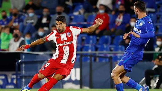 Hasil Liga Spanyol : Getafe vs Atlectico Madrid 1-2, Luis Suarez Jadi Bintang