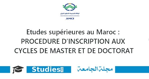PROCÉDURE D'INSCRIPTION AUX CYCLES DE MASTER ET DE DOCTORAT