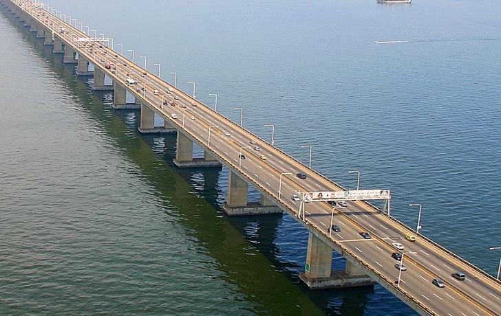 inilah Rio Niterói Bridge Di Brasil Tol Laut Terpanjang Dan Megah
