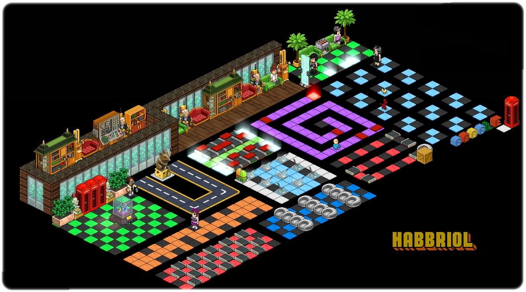 "Habblet Jogo ~ Quartos Modelo de Labirinto Habbriol""Habbo Hotel Nosso Passatempo"""