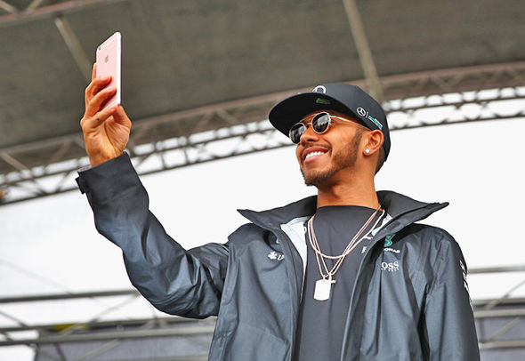 Hamilton has been mocked for the amount of selfies he takes by fans and critics