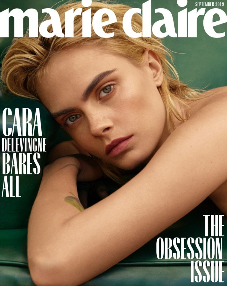 Cara Delevingne Strips Down for Marie Claire Cover Story