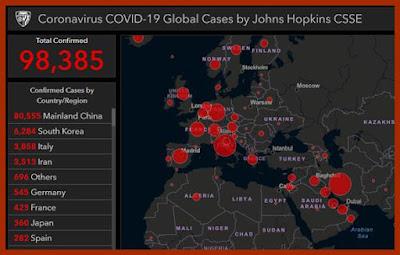 ultimele informatii raspandirii coronavirusului covid 19