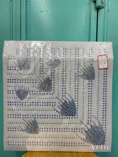 Hotfix stickers dmc rhinestone aplikasi tudung bawal fabrik pakaian bouquet dengan lines
